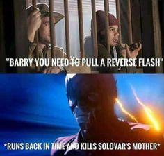 The flash reverse flash Barry Allen Cisco Ramon