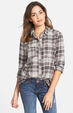 BP. Plaid Flannel Shirt (Juniors)