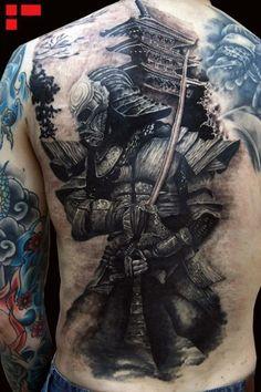 1001 coole und effektvolle samurai tattoo ideen r ckentattoo tattoo r cken und t towieren. Black Bedroom Furniture Sets. Home Design Ideas