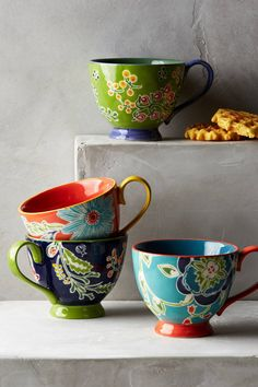 Yes, it is possible to enjoy a morning cup of coffee even more — with a mug this cheery and bright, of course. $14, anthropologie.com    - HouseBeautiful.com