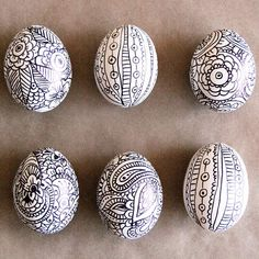 If you love to doodle and draw, this simple Easter egg idea is just for you! All you'll need are a few hard-cooked eggs, a permanent marker, and a lot of creativity. Easter Egg Tip: Draw slowly and carefully, and wait for the marker to set before continuing your design on a different side. Protect your hands from marker smudges by holding your egg with a towel.