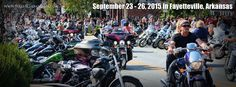   Bikes, Blues & Bar-B-Q   is the largest non-profit bike rally in the United States. It is held in Fayetteville, Arkansas, just a beautiful bike ride away from   Eureka Springs!