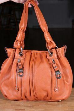 B. Makowsky Pebble Leather Medium Durango Tote SPICE ORANGE $248