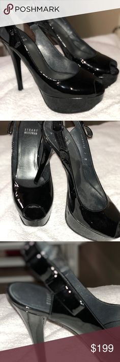Black Stuart Weitzman heels Black Stuart Weitzman heels.  Size 7.  Only used once in Las Vegas.  Paid $475 for these babies and they are sitting in my closet. Stuart Weitzman Shoes Heels