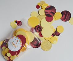 Beauty and The Beast Inspired Confetti - Belle - Table Scatter - Red, Rose Print, Gold Glitter, Gold, Yellow - Party Decor - 450 Pieces by ConfettiPie on Etsy https://www.etsy.com/listing/516779751/beauty-and-the-beast-inspired-confetti