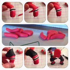 gum paste hockey players
