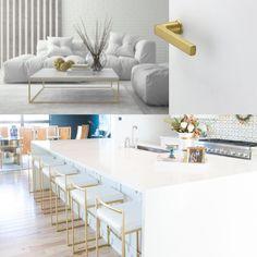 blanco con destellos dorados. Table, Furniture, Home Decor, White People, Decoration Home, Room Decor, Tables, Home Furnishings, Home Interior Design