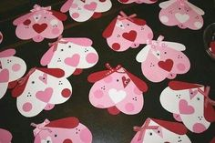 Vday kids crafts - I made these every year with my class. I used a larger heart for the puppies body, and smaller hearts for paws.