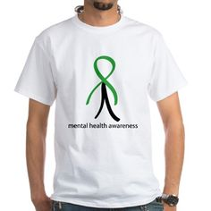 Mental Health Green Stick Man Shirt on CafePress.com