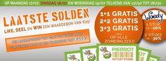 1+1 gratis, 2+2 gratis, 3+3 gratis, ... bij Pierrot Outletstore!!!! -- Oostrozebeke -- 17/07-19/07