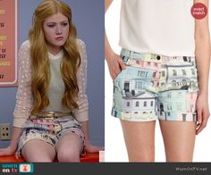 Harper's building print shorts on Happyland. Outfit Details: http://wornontv.net/39455/ #Happyland