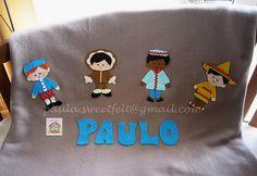 ♥♥♥ Uma mantinha quentinha para o Paulo... by sweetfelt \ ideias em feltro, via Flickr