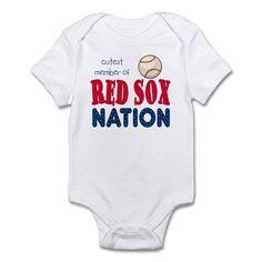 Cutest Member Red Sox Nation Baby Infant Bodysuit on CafePress.com