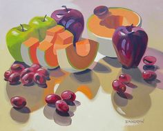 Melon and Apples 24x30 | Oil on Canvas | Leigh-Anne Eagerton | Flickr