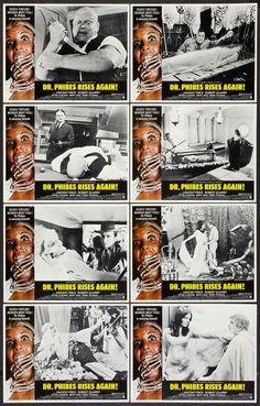 """Dr Phibes Rises Again!"" Lobby Cards (1972)"
