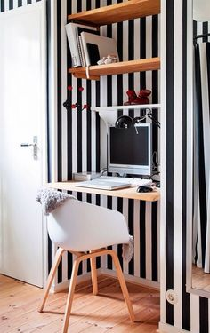 BLACK + WHITE STRIPES home office