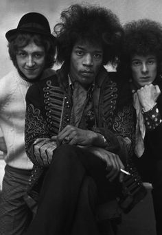 The Jimi Hendrix Experience **Jimi does not look amused.