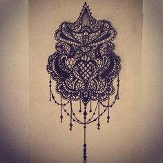 Lace tattoo sketch / ideas / drawings by - Ranz