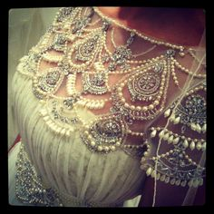 Absolutely gorgeous Marchesa  wedding dress detail! @Christopher Bride.com