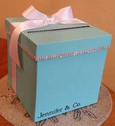 Card box with personalization for a wedding baby shower bridal shower or birthday party