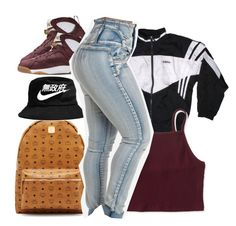 """""""S A I D I C A N T H A N D L E  D A A P I P E"""" by prettygurl21 ❤ liked on Polyvore featuring MCM, adidas and Aéropostale"""