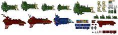 Battlefleet Gothic Pixel - templates by ~Sleeping-Demons on deviantART