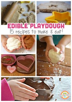 Eat your playdough! Let your kids play and snack with these recipes for edible playdough.