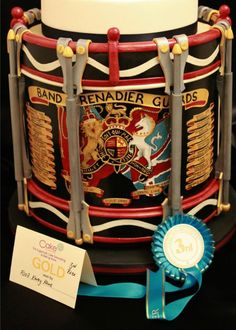 Regimental Wedding Cake 'Gold and Third in Catagory'