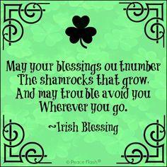St. Patrick's Day Irish Blessing quote via www.Facebook.com/PeaceFlash
