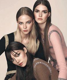 """ Fei Fei Sun, Sasha Luss and Vanessa Moody by Txema Yeste for Harper's Bazaar Spain October 2015 """
