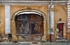 Gate door entrance in decayed old building. James Marshall D Entrance Doors, Doorway, Front Doors, Heaven's Gate, Inner World, Stairway To Heaven, Old Building, Old Doors, Stairways