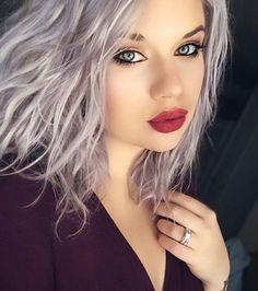 Coloration cheveux argent gris