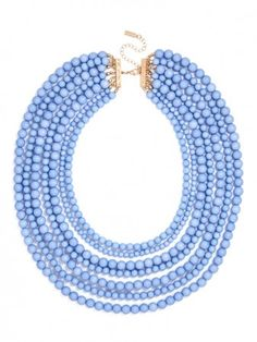 Pretty in Periwinkle. Love this necklace, but maybe in a diff color?!