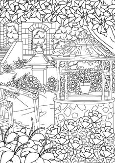Printable Flower Coloring Pages, Garden Coloring Pages, Blank Coloring Pages, Abstract Coloring Pages, Adult Coloring Book Pages, Coloring Sheets, Coloring Books, Disney Princess Coloring Pages, Colored Pencil Techniques
