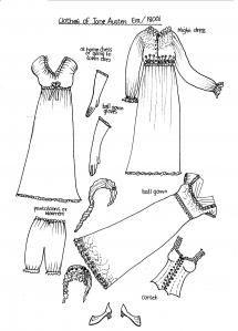 @Johnne Orelchikov   Free Printable Paper Doll Clothes Jane Austen circa 1800s