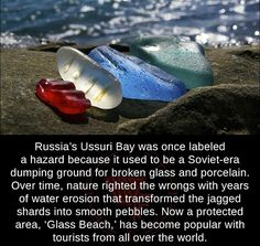 Russia's glass beach...