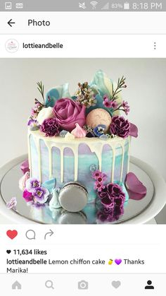 Macaron Cake, Birthday Cake, Cake, Ice Cream Birthday Cake, Pastel Birthday … – Famous Last Words Girly Birthday Cakes, Ice Cream Birthday Cake, Beautiful Birthday Cakes, Birthday Cakes For Women, Happy Birthday, Beautiful Cakes, Colorful Birthday Cake, Girly Cakes, Food Cakes