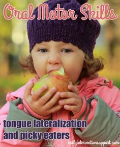 During early childhood, children gain oral motor skills to move on to new foods. One of the most significant of these skills is tongue lateralization. Speech Pathology, Speech Language Therapy, Speech And Language, Oral Motor Activities, Speech Therapy Activities, Sensory Activities, Pediatric Occupational Therapy, Pediatric Ot, Toddler Speech