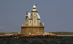 Lighthouses | Race Rock Lighthouses, photo courtesy New England Lighthouses: A ...