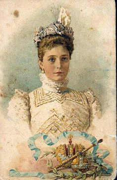 Zarin Alexandra Feodorowna von Russland, nee Princess of Hesse-Darmstadt by Miss Mertens, via Flickr