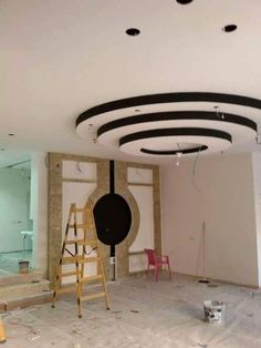"""If we think of the ceilings in our homes, so often the first thing that comes to mind is """"white, bland and boring. Gypsum Ceiling Design, Interior Ceiling Design, House Ceiling Design, Home Design Decor, Interior Decorating, House Design, Design Ideas, Home Decor, Bedroom Ceiling"""