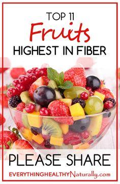 Top 11 Fruits Highest in Fiber