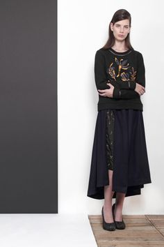 ARMANDO TAKEDA 2015-16AW LOOK07 #sweatshirt #skirt
