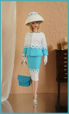 OOAK Fashions for Silkstone / Fashion Royalty/ Vintage barbie / Poppy Parker #LoveFashion by bethany