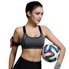 9770b7106d Yoga Sports Bra Top Padded Push Up Bra Breathable Fitness Gym Bra