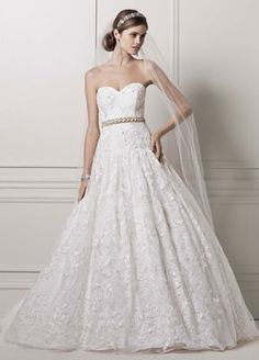 Strapless Ball Gown with All Over Lace Appliques AI14010451