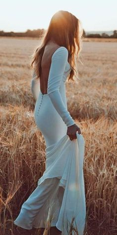 24 Bridal Gowns With Sleeves Never Fails To Impress?bridal gowns with sleeves sheath backless simple made with love bridal : 24 Bridal Gowns With Sleeves Never Fails To Impress?bridal gowns with sleeves sheath backless simple made with love bridal Backless Wedding Dress With Sleeves, Gowns With Sleeves, Long Sleeve Wedding, Dress Lace, Backless Gown, Princess Wedding, Bridal Gowns, Dream Wedding, Wedding Bride