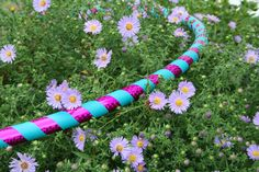 """BUDGET Heavy Weight hoop. Adult Beginner - Collapsible hula hoop - """"The 2 taped Basic"""" CUSTOM COLORS, tape, and diameter"""