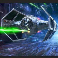 Vaders Tie || TheFirstAngel #starwars#swplanet#theforceawakens#darthvader  by: @starwarsplanet