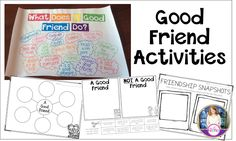 What makes a good friend activities and anchor chart for beginning of the year